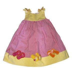 Rare Editions Seersucker Summer Flip Flop Dress 5